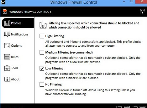 小巧防火墙(Windows Firewall Control) v4.9.9.2 免费版
