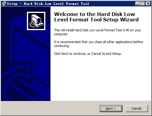 HDD Low Level Format Tool(硬盘低格工具) v4.40免费版