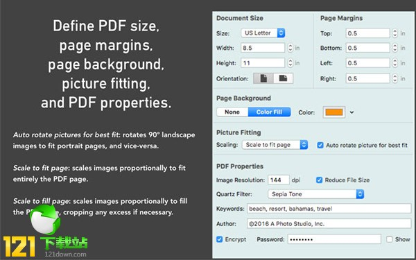 Badia Images to PDF For Mac(图片转换pdf)