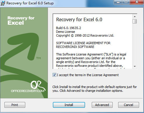 Recovery for Excel(excel文件修复工具)下载 v6.0官方版