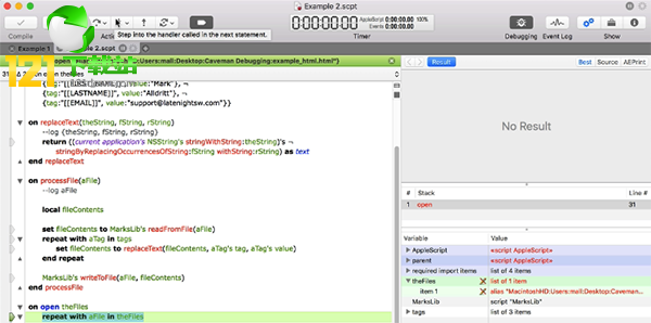 Script Debugger for mac(开发调试软件)